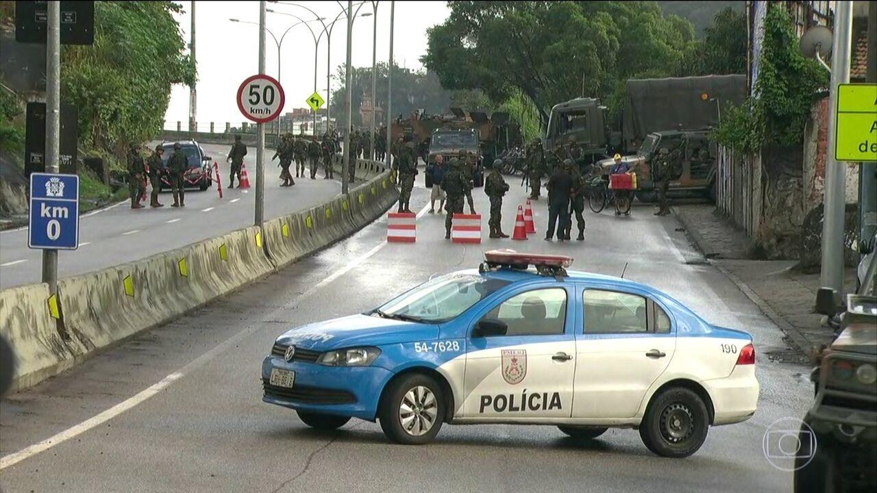 Operação no Rio combate o roubo de cargas e o tráfico de drogas