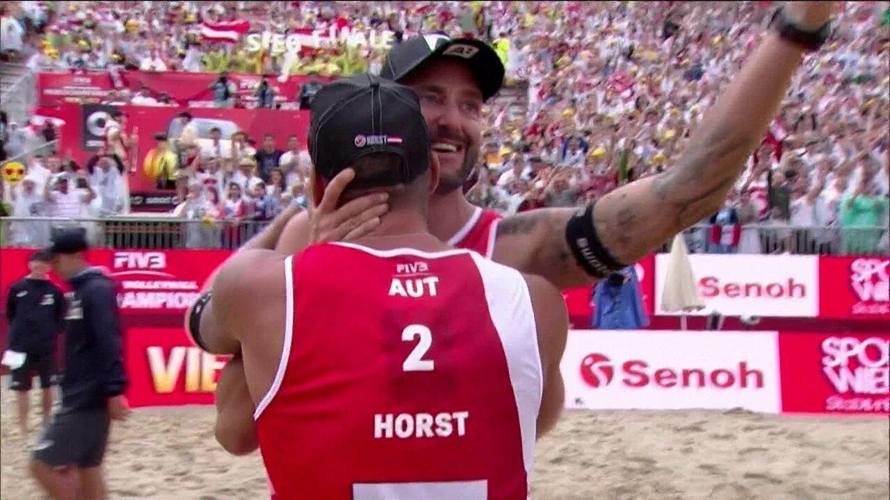 Evandro/André bate dupla holandesa e vai à final do Mundial da Áustria
