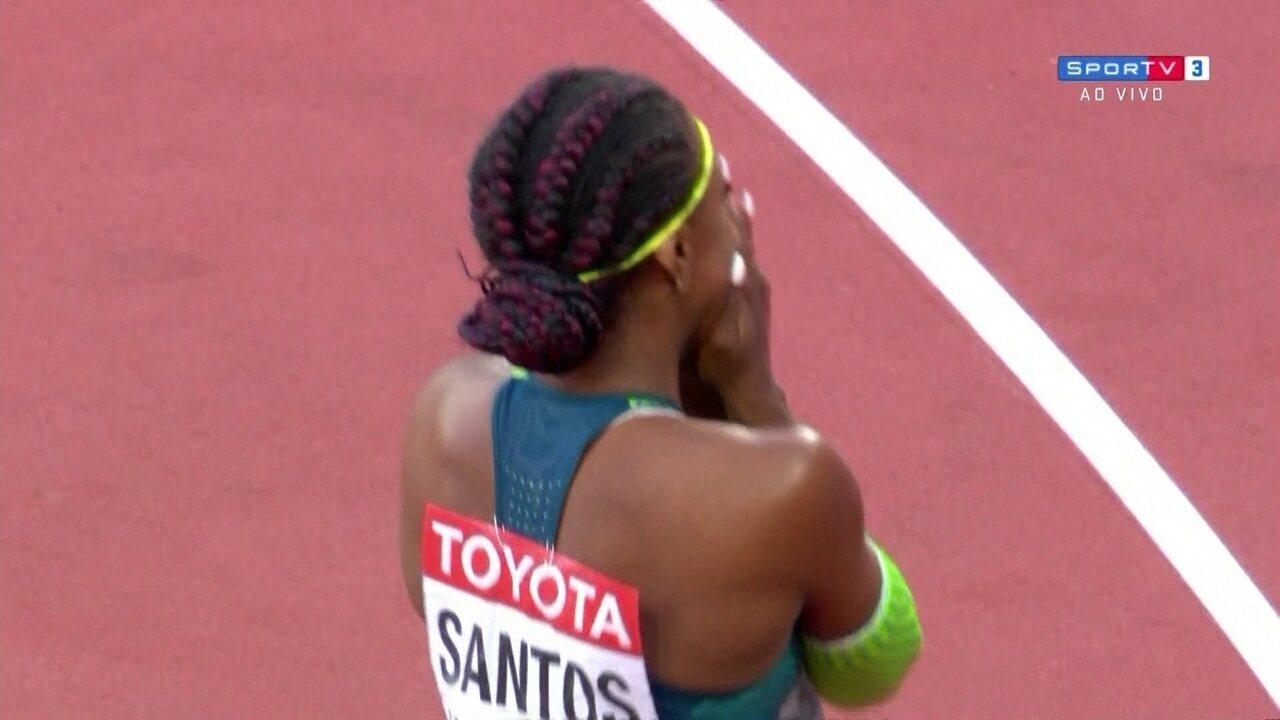 Rosângela Santos faz recorde brasileiro e sul-americano e está na final dos 100m rasos