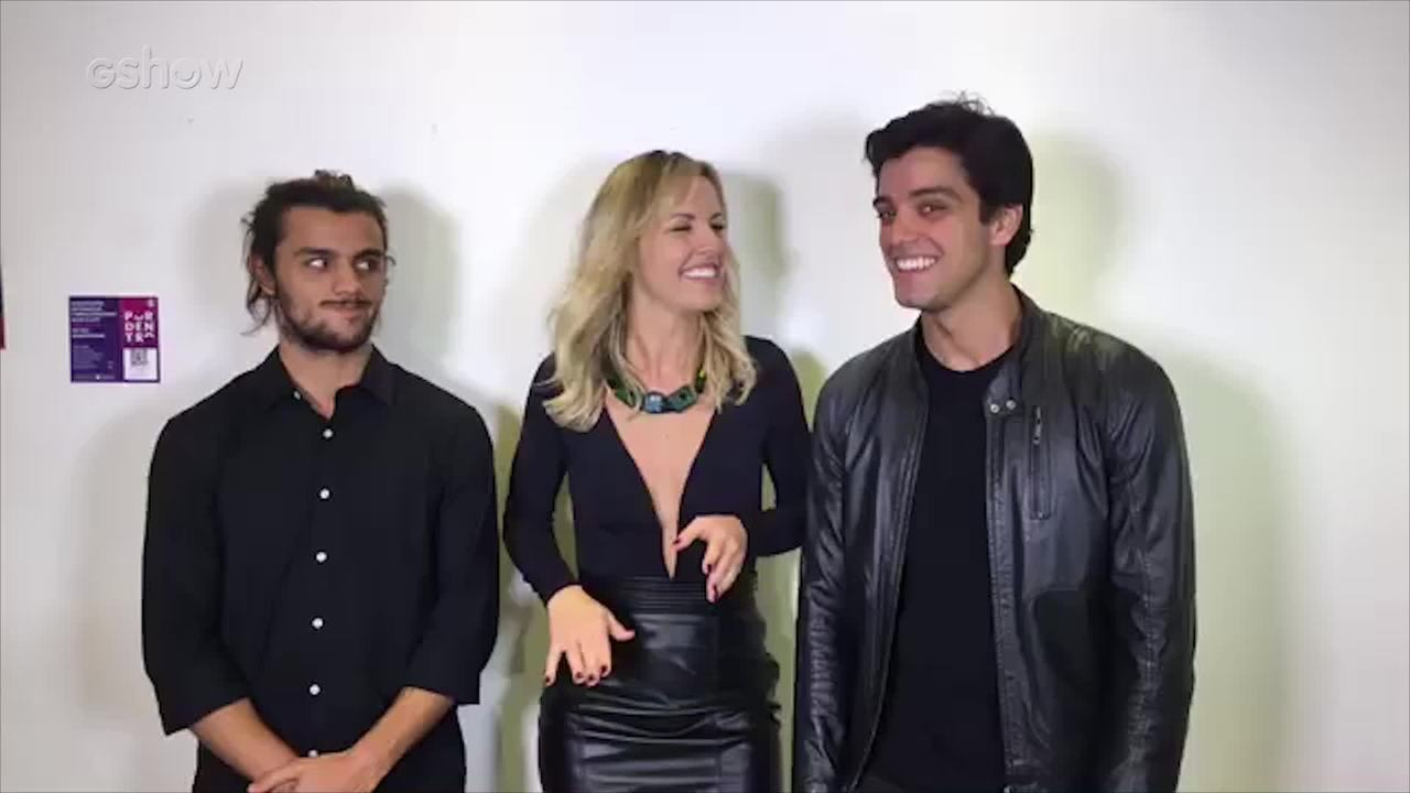 Felipe Simas e Rodrigo Simas falam sobre gravação da nova vinheta do Dança dos Famosos