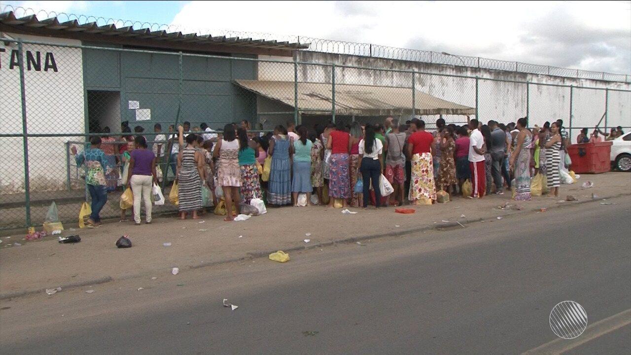 94 detentos continuam sem poder sair do presídio regional de Feira no dia dos pais