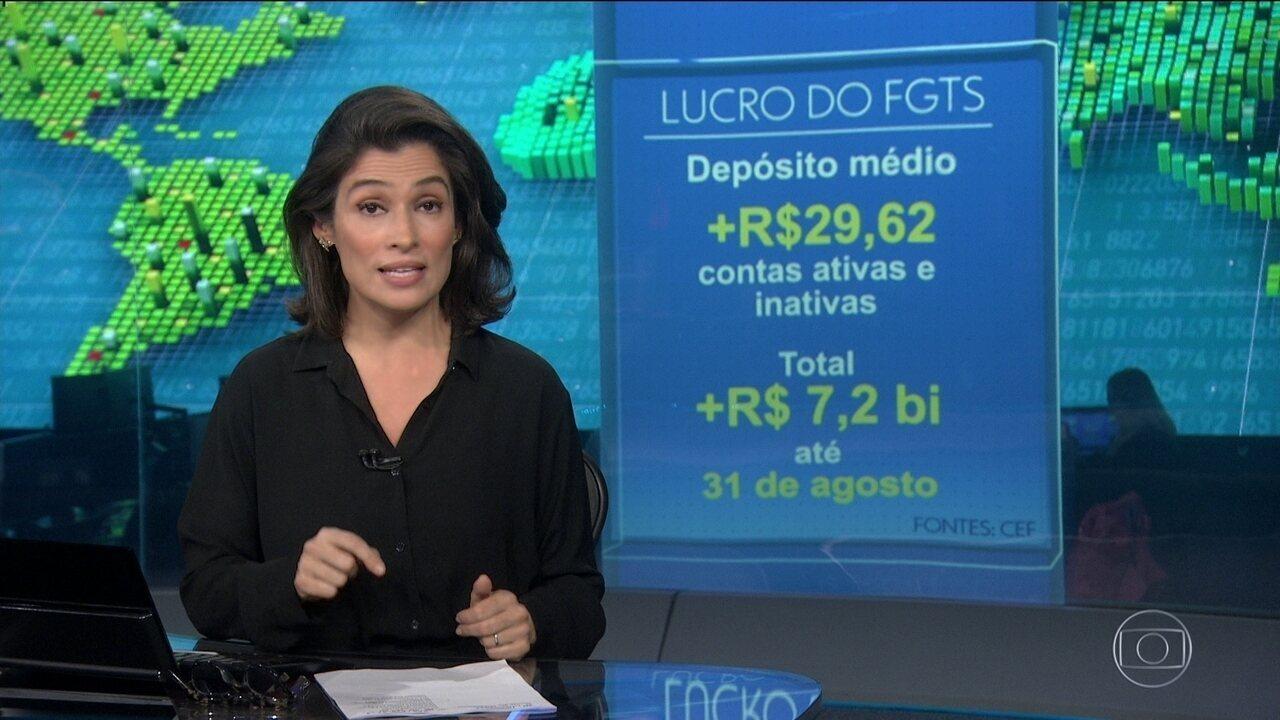 Caixa vai depositar R$ 29,72 nas contas do FGTS de 88 milhões de trabalhadores