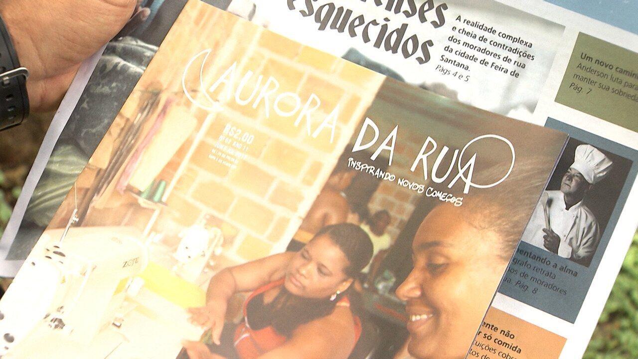 A revista Aurora da Rua dá voz para pessoas sem-teto