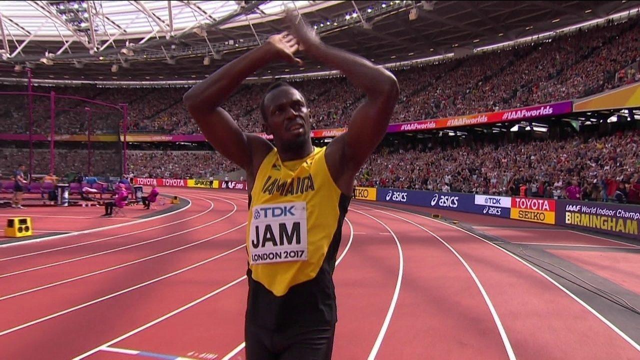 Usain Bolt lesiona-se na derradeira corrida — Mundiais de atletismo