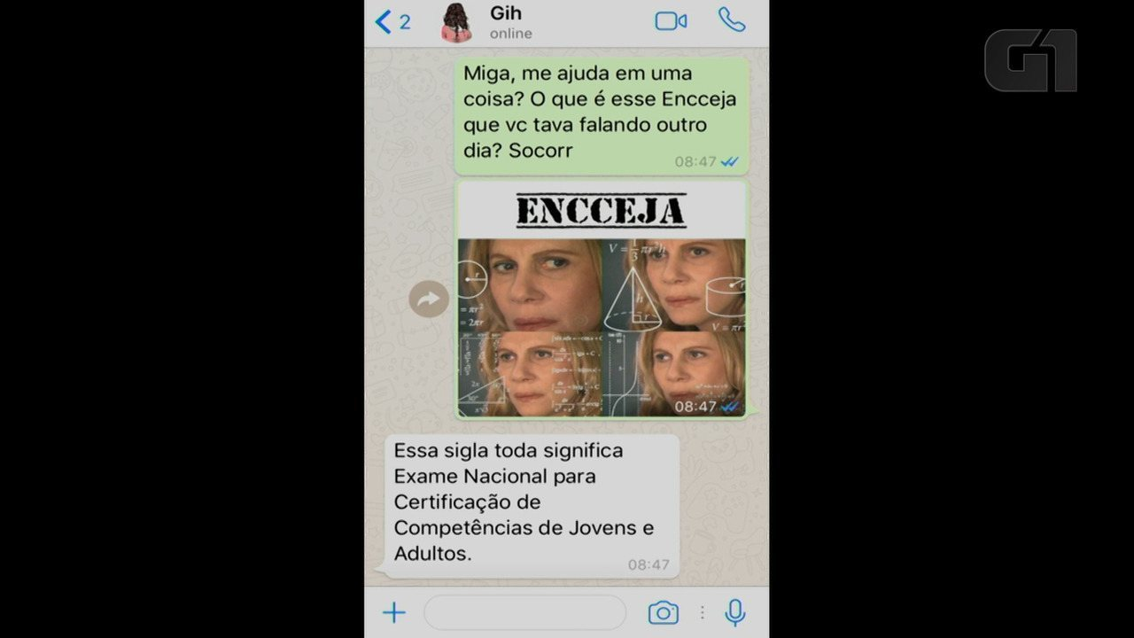 Encceja: saiba tudo sobre o exame em uma conversa de Whatsapp
