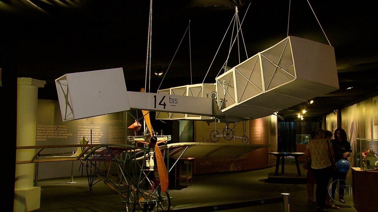 Vida e obra de Santos Dumont são temas de exposição no Recife
