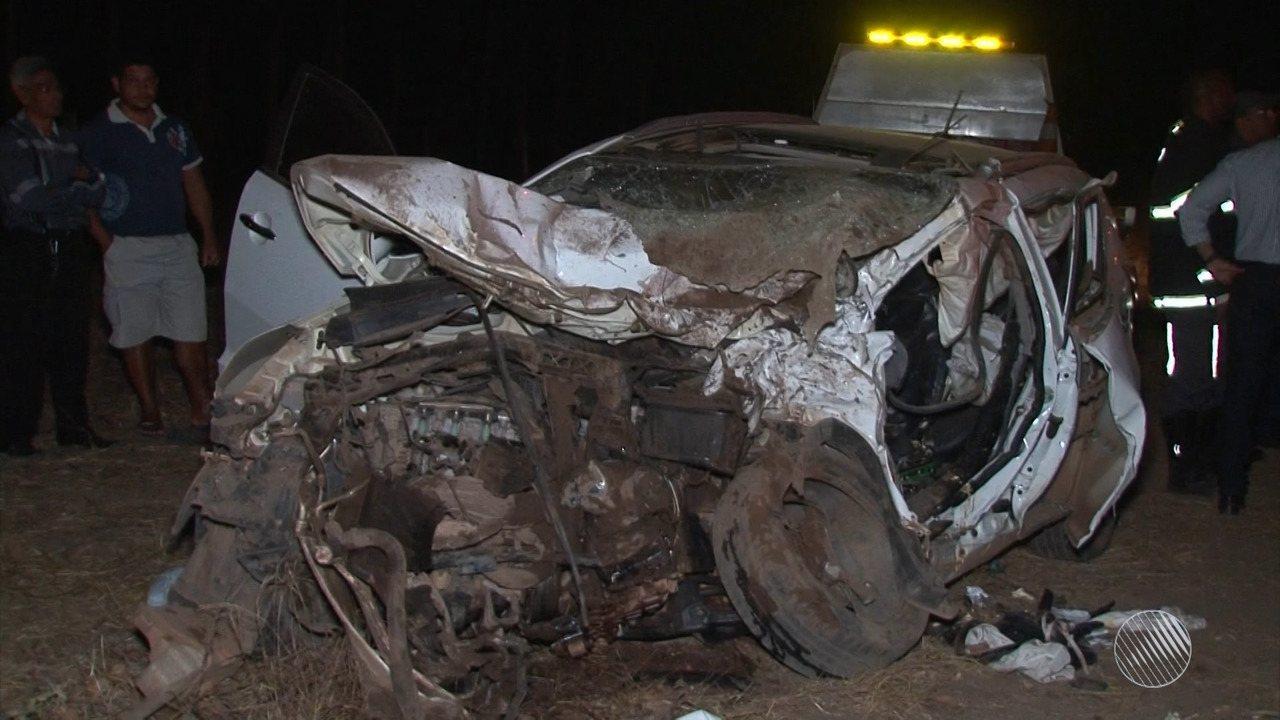 Acidente que deixou três mortos no oeste pode ter sido causado por ultrapassagem proibida