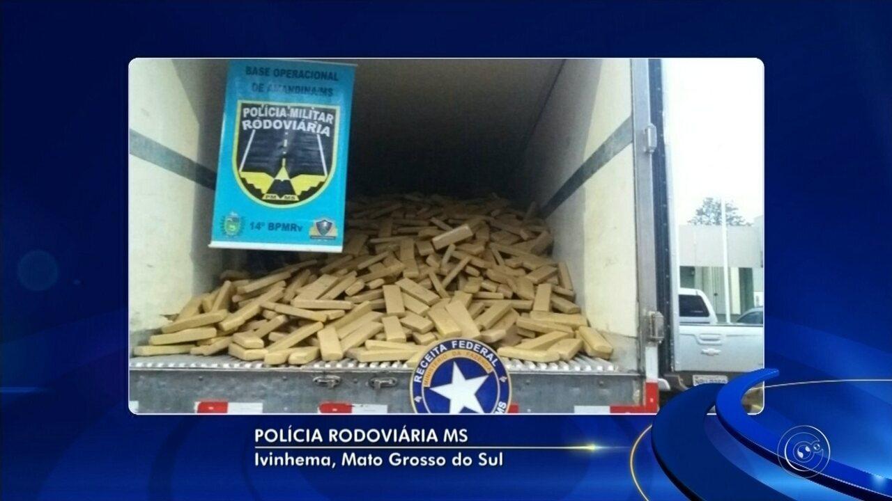 Moradores do interior de SP são presos com quase 7 toneladas de maconha