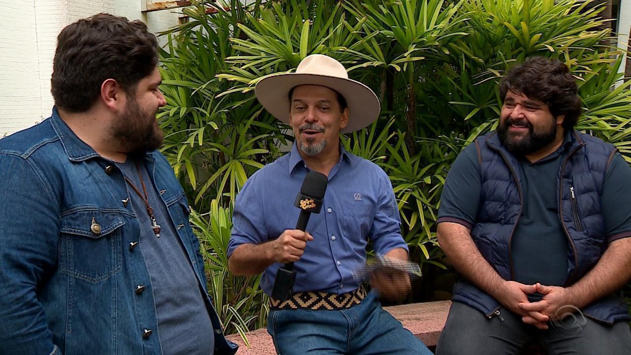 Veja entrevista com César Menotti e Fabiano e o quadro 'Na Janela do Galpão' (bloco 1)