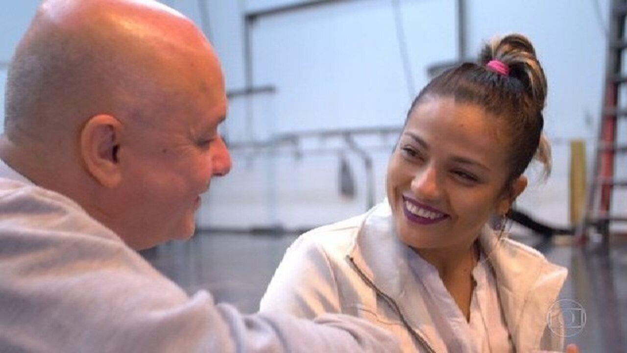 Katiana conhece Rodrigo Pederneiras, um dos maiores coreógrafos do país