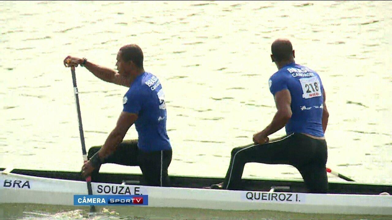 Erlon Souza e Maico Santos ficam na oitava posição no C2 200m no Mundial de Canoagem