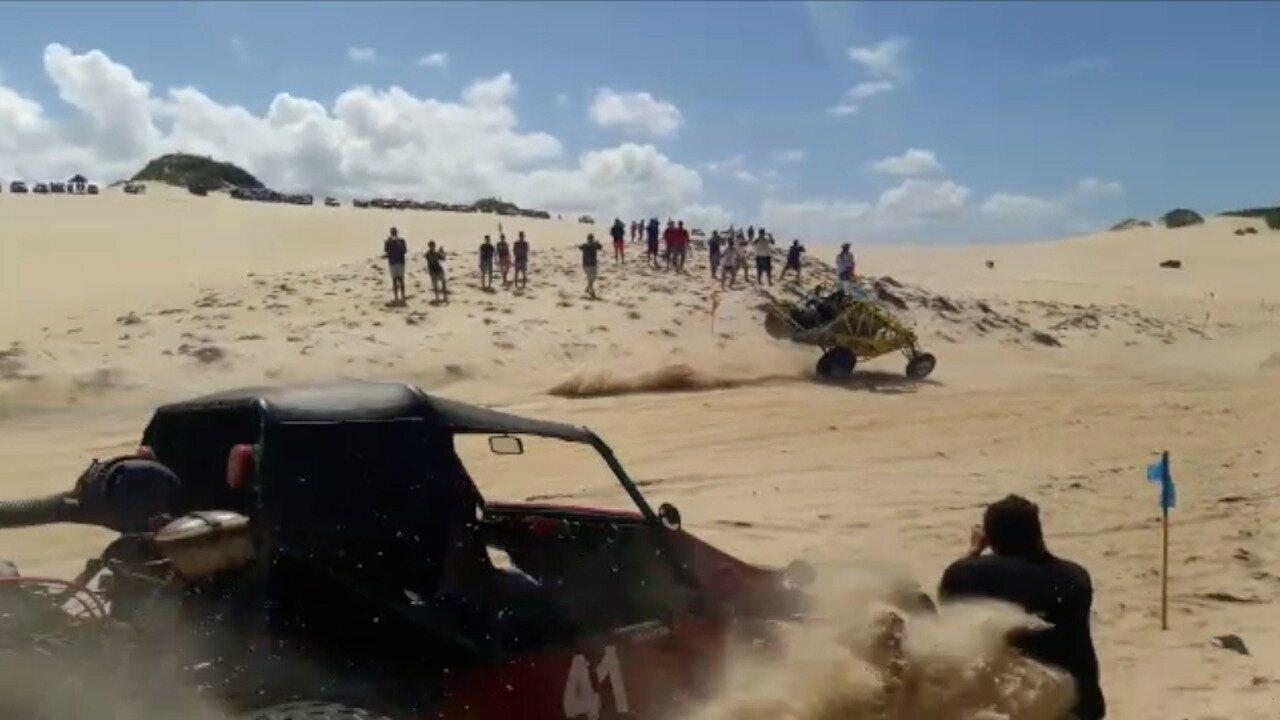 Homem é atropelado por buggy nas dunas em Natal