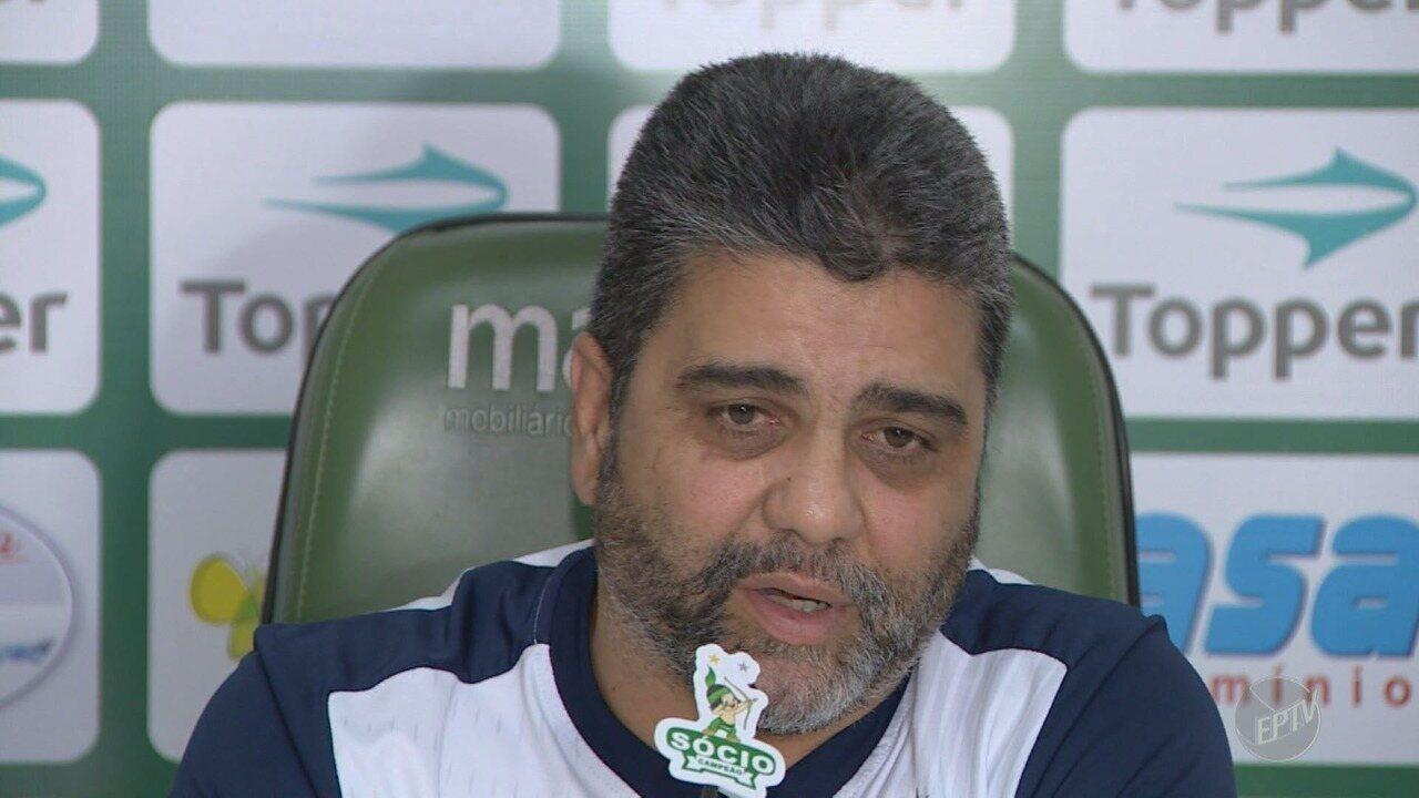 Marcelo Cabo é apresentado como novo técnico no Guarani