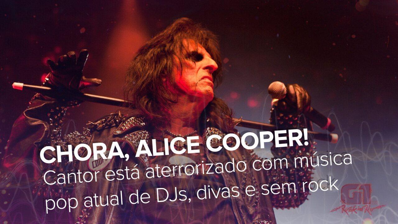 Alice Cooper fala ao G1