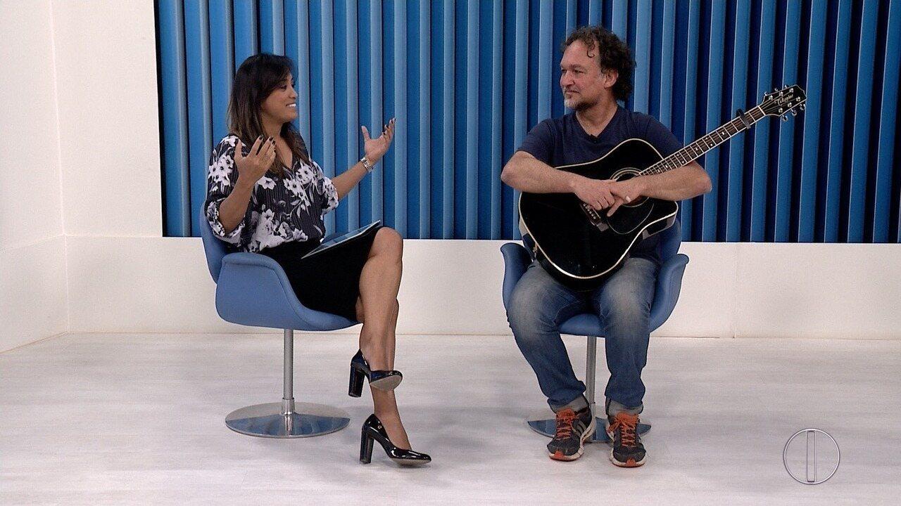Estúdio da Inter TV em Cabo Frio recebeu Cláudio Nucci nesta sexta-feira (1º)