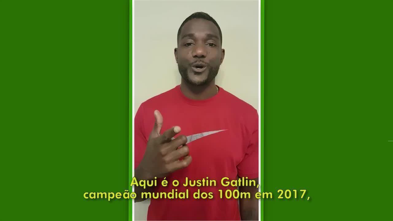 Justin Gatlin convida todos para o Desafio Contra o Tempo no Rio de Janeiro