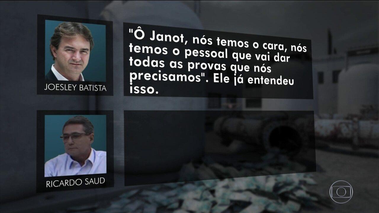 Joesley e Saud conversam sobre meios para se chegar a Janot