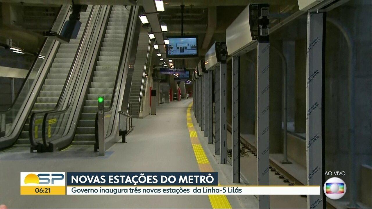 Após atrasos, Metrô de SP inaugura três novas estações nesta quarta-feira (6)