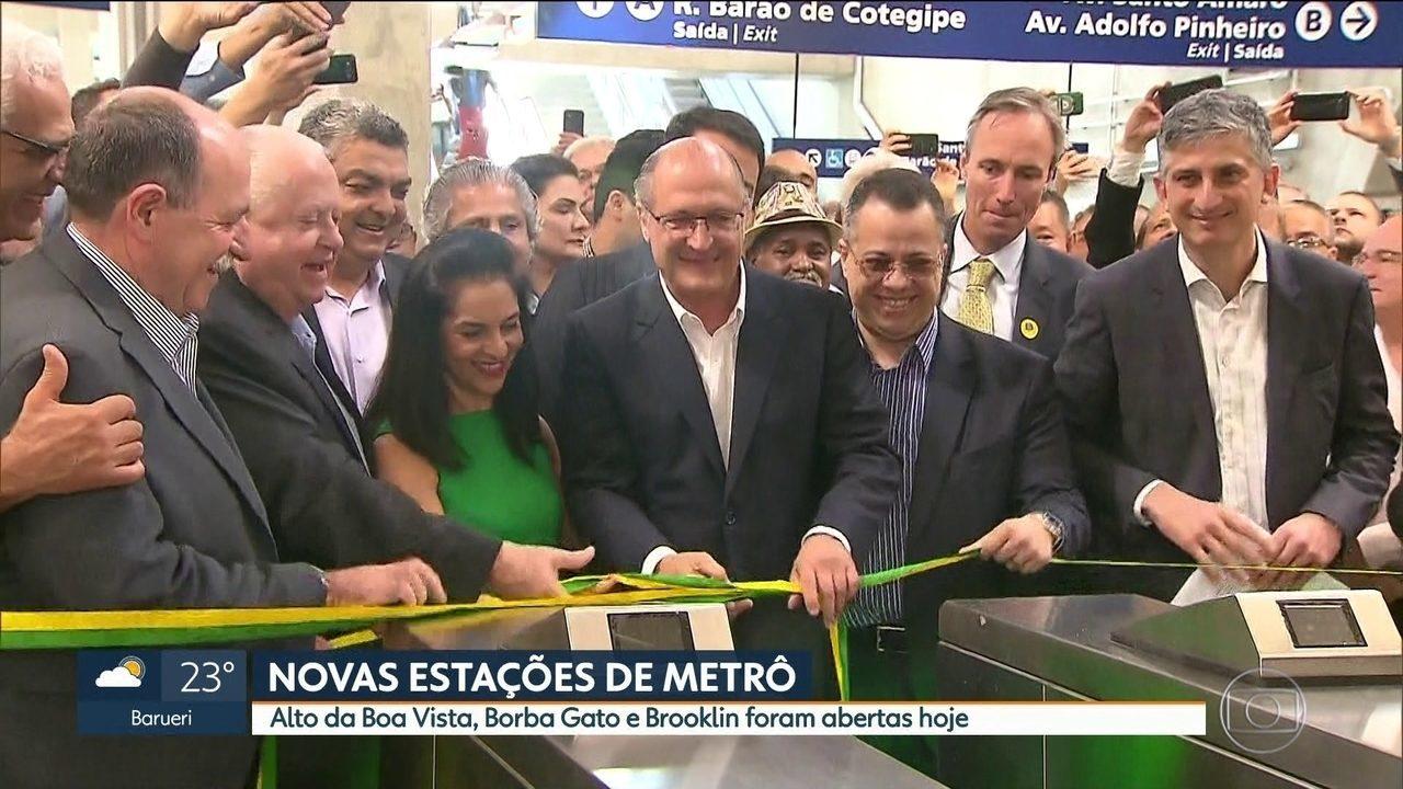 Governo de SP entrega três novas estações na linha 5-Lilás