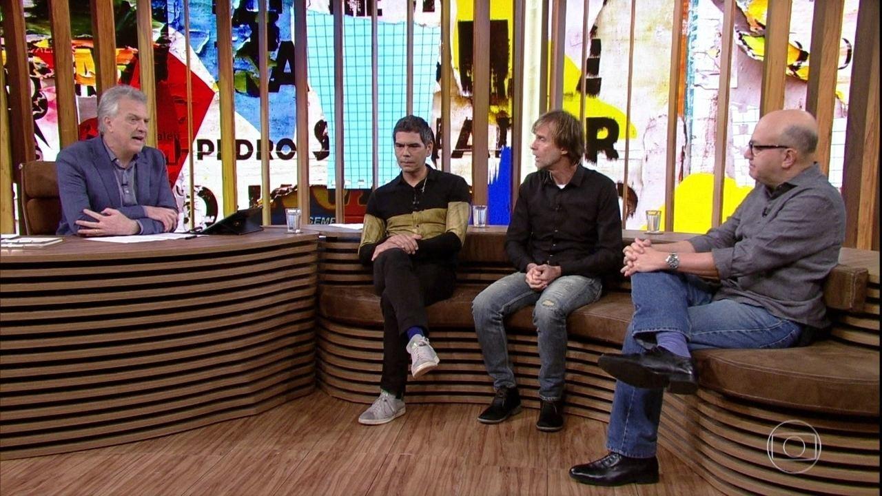 Bial e os convidados falam sobre as letras de Renato Russo