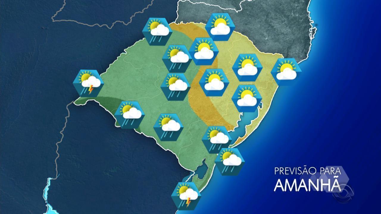 Tempo: há previsão de chuva para várias regiões do RS neste domingo (10)
