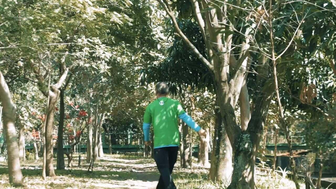 Sr. Hélio da Silva, o plantador de árvores.