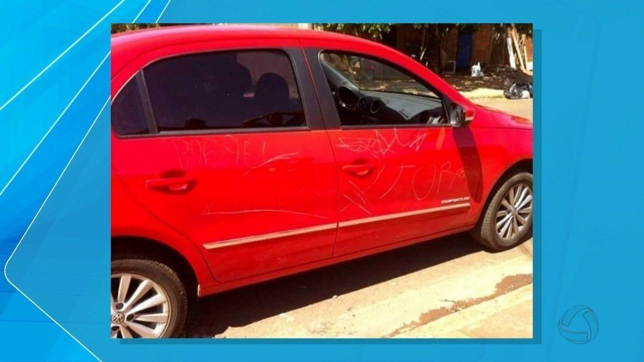 Guarda Municipal apreende suspeitos de riscar carro em Campo Grande