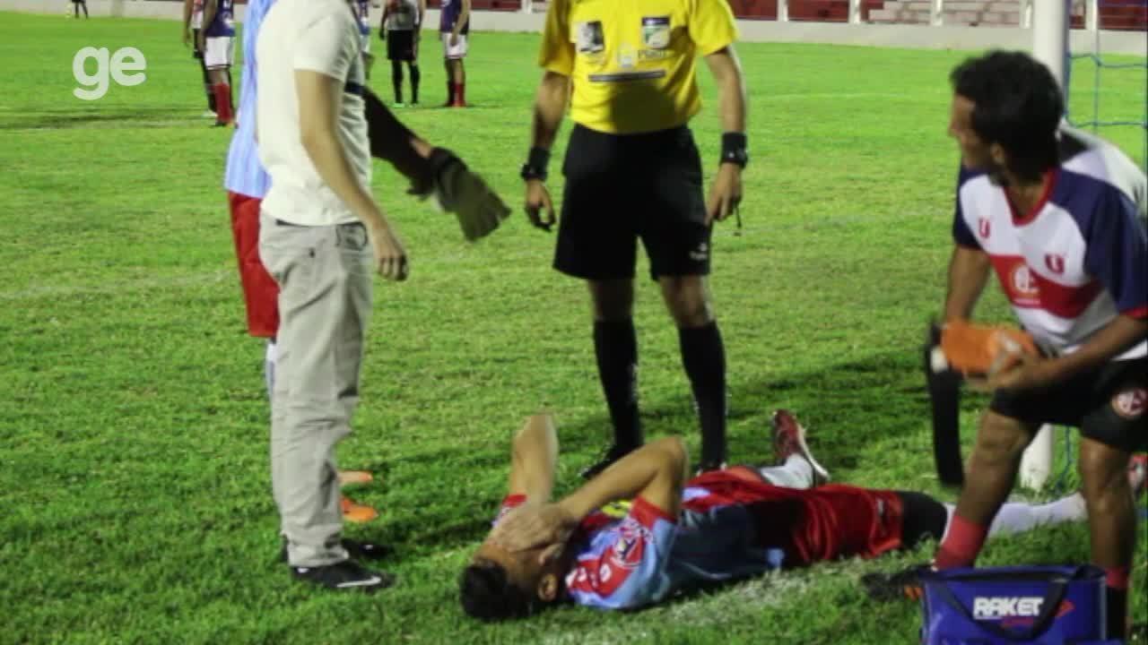 Goleiro do 4 de Julho chora por não lembrar nome dos companheiros de time após pancada