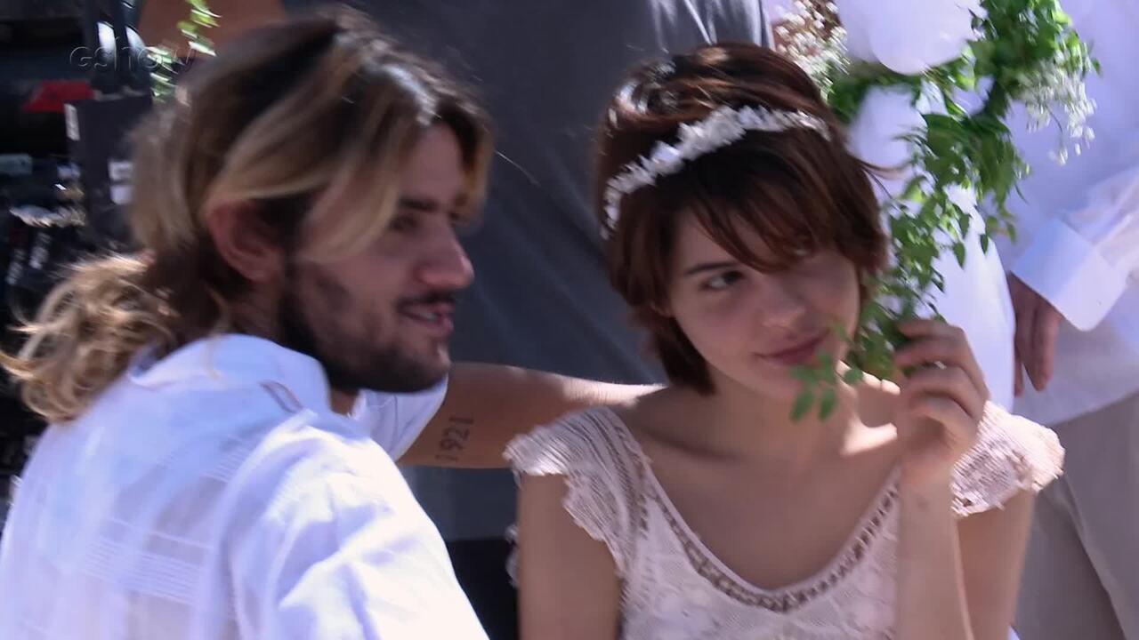 Confira os bastidores do casamento entre Nanda e Caíque
