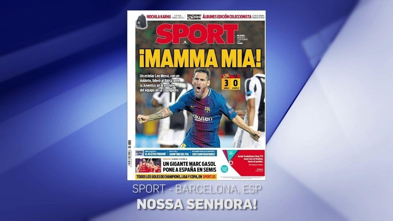 Jornais exaltam Messi após estreia do Barcelona na Liga dos Campeões