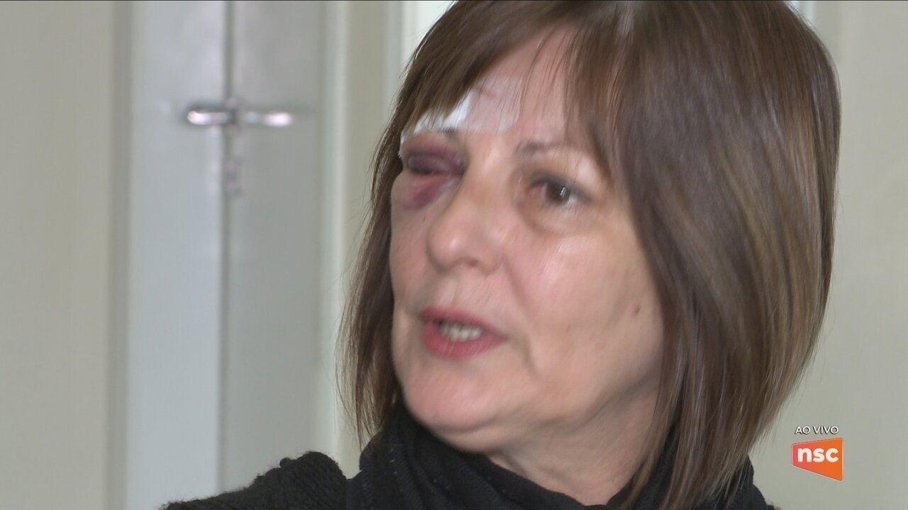 Professora agredida em escola de Idaial participa de audiência