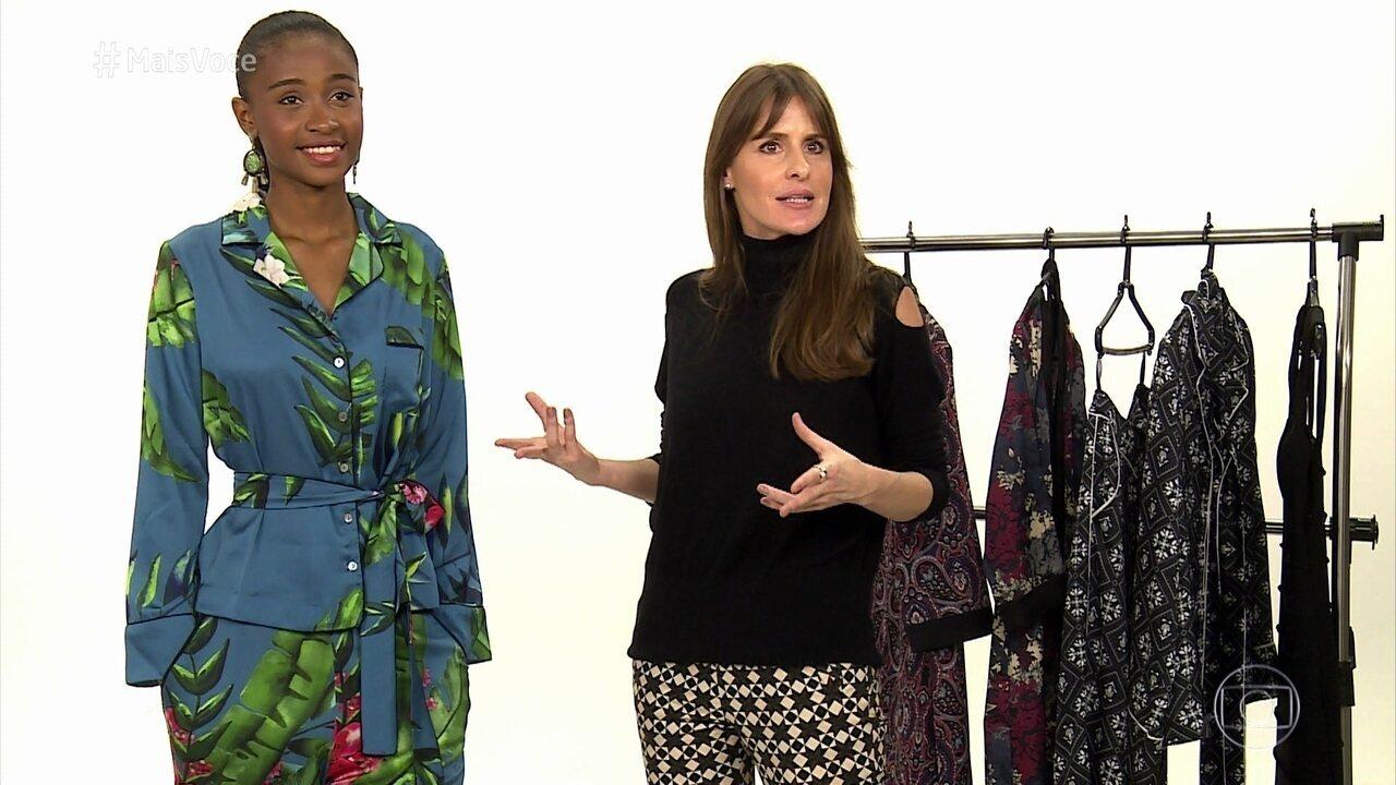 Juliana Burlamaqui dá dicas para usar pijama na rua