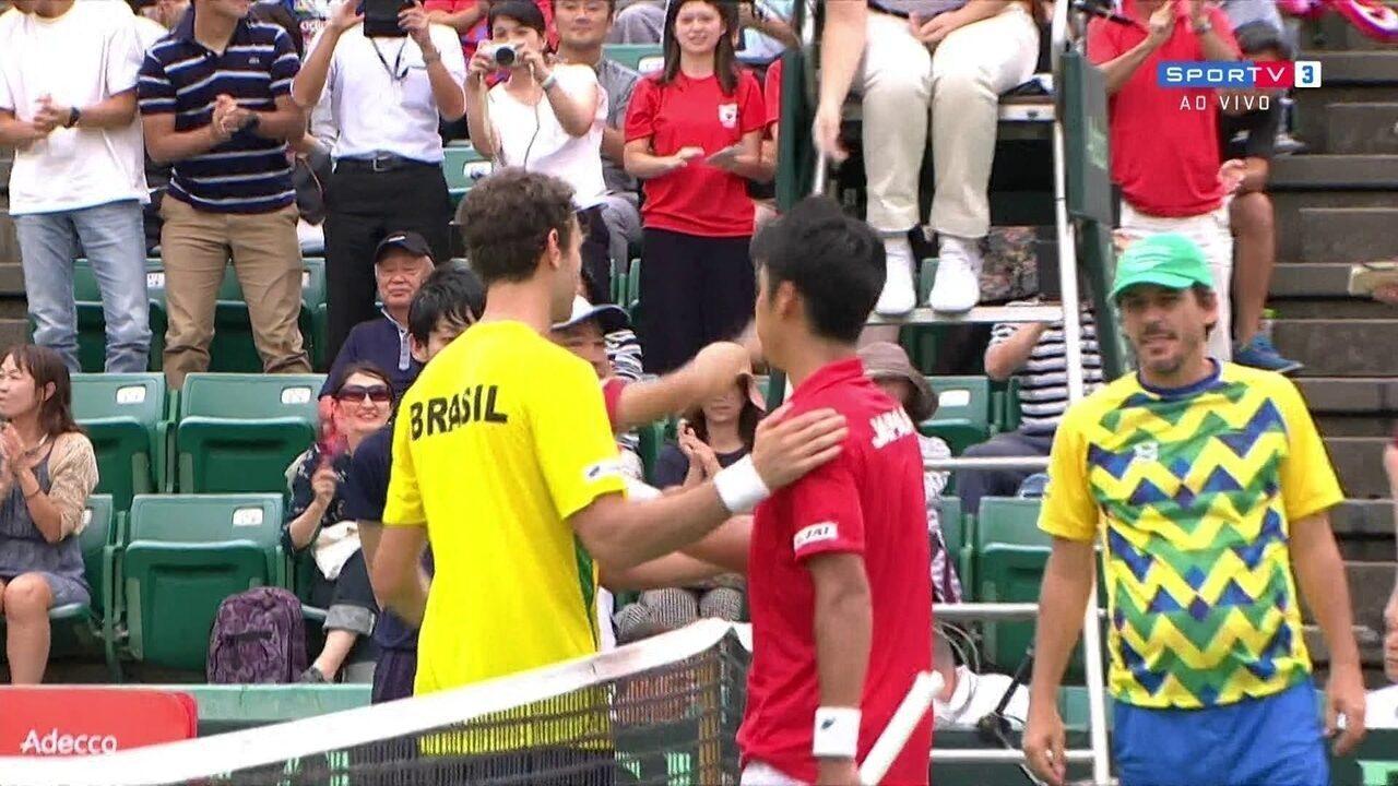 742731b188 Pontos finais de Yuichi Sugita 3 x 0 Guilherme Clezar pela Copa Davis