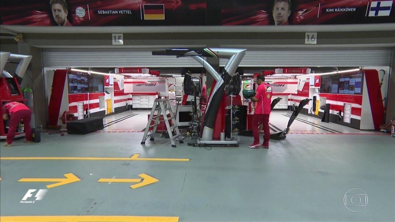 Box da Ferrari em Cingapura é a imagem da decepção