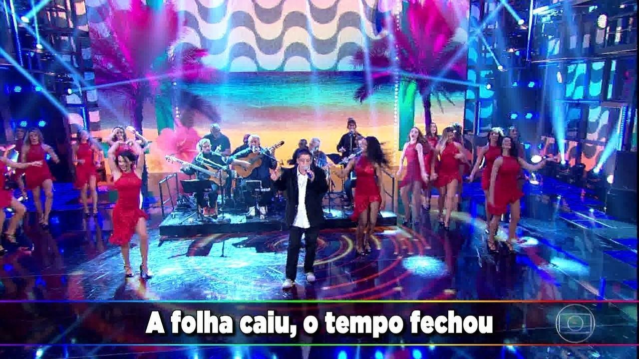 Domingão canta junto com o Zeca Pagodinho