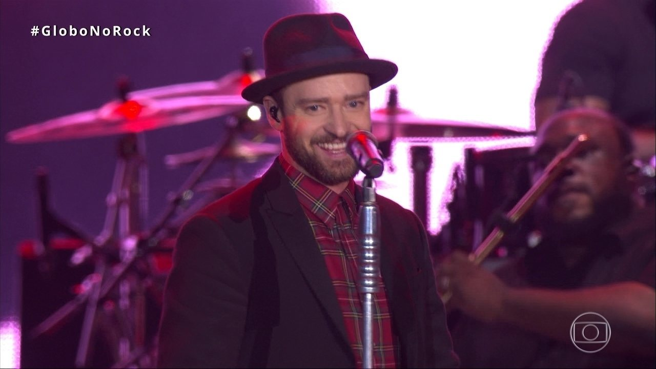 Justin Timberlake canta `Suit & Tie` no Palco Mundo do Rock in Rio