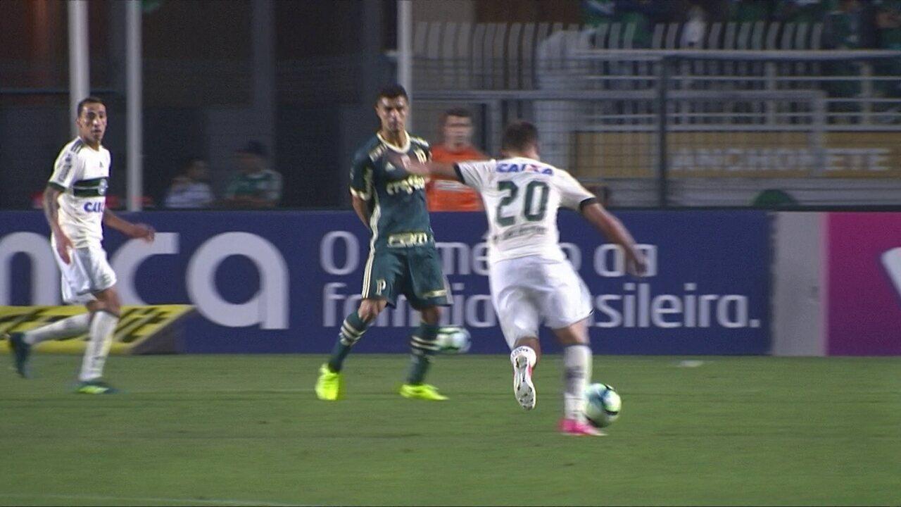 Melhores momentos de Palmeiras 1 x 0 Coritiba pela 24ª rodada do Campeonato Brasileiro