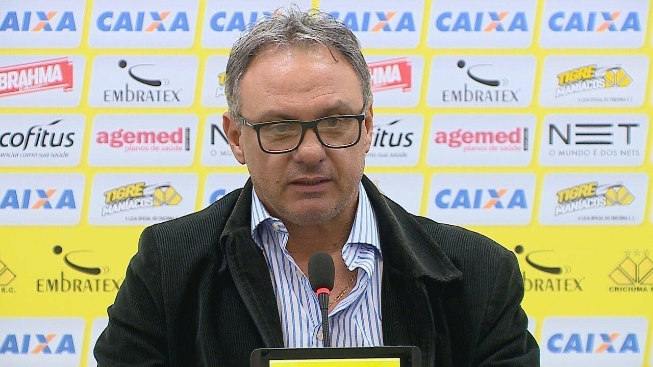Confira a apresentação de Beto Campos no Criciúma
