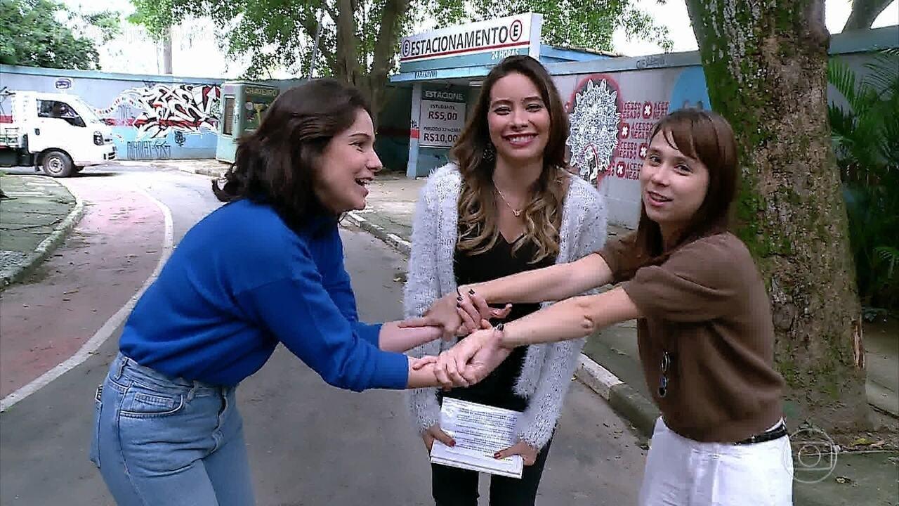 Teste de Amizade com Aline Fanju e Daphne Bozaski no 'Vídeo Show'