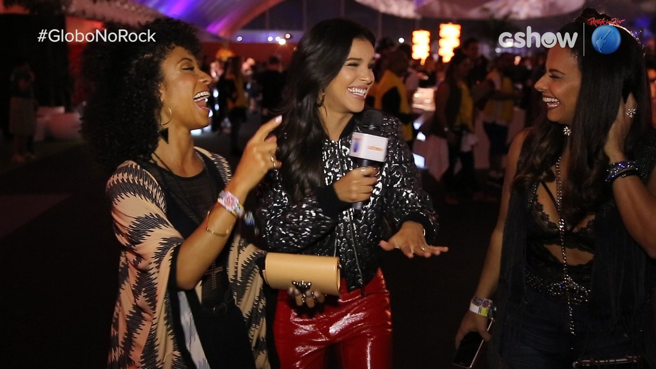 Mariana Rios se diverte com Viviane Araújo e Cinara Leal