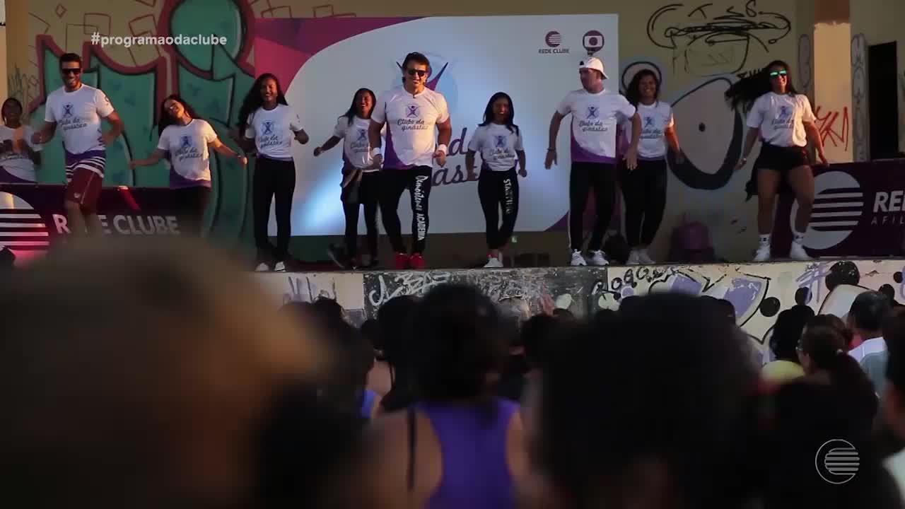 Clube da Ginástica leva atrações para a comunidade no Parque Cultural do Dirceu