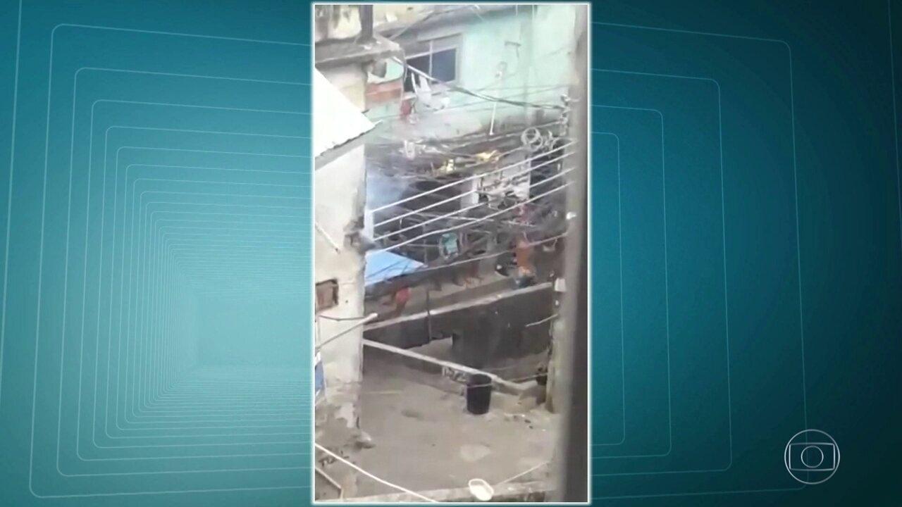 Vídeo que circula nas redes sociais mostra movimento de bandidos na Rocinha