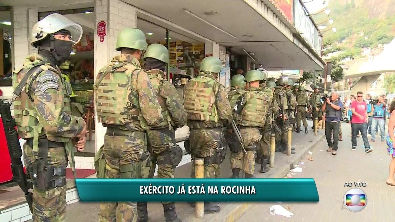 Soldados das Tropas Federais chegam à Rocinha