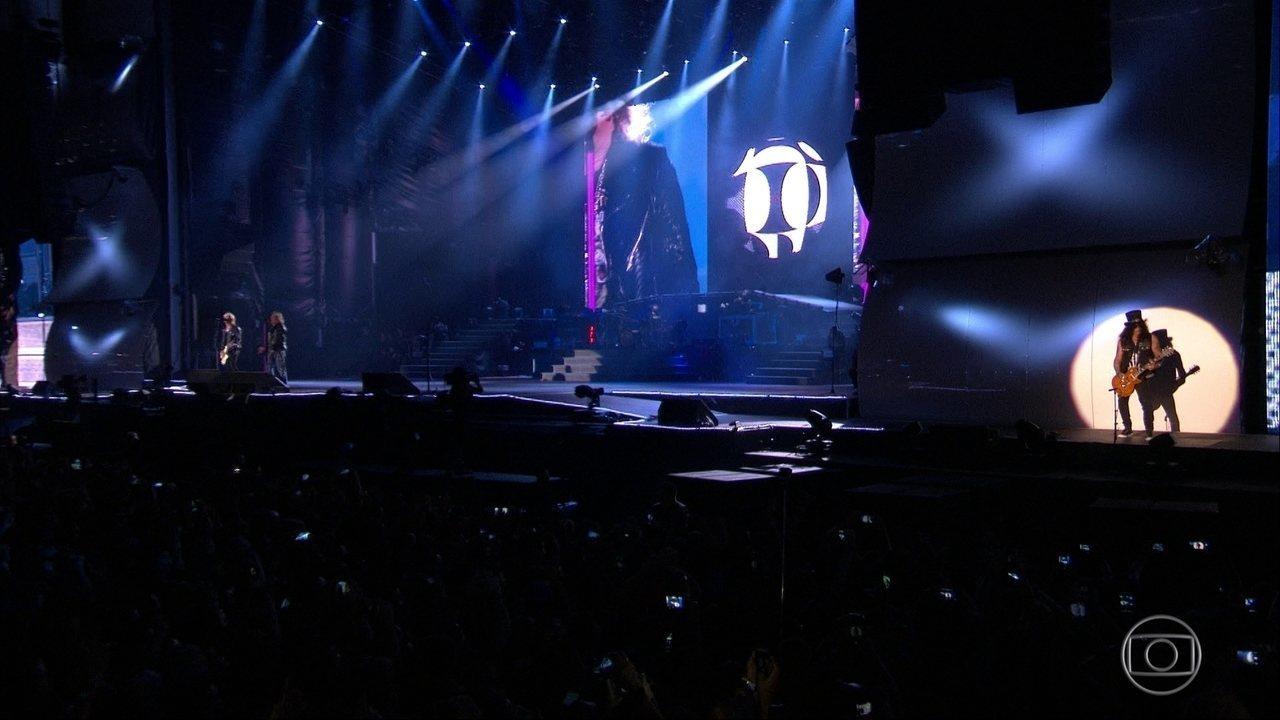 Guns N' Roses canta 'Mr. Brownstone'no Palco Mundo do Rock in Rio