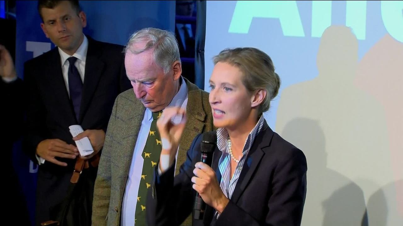 Alice Weidel discursa após eleições na Alemanha