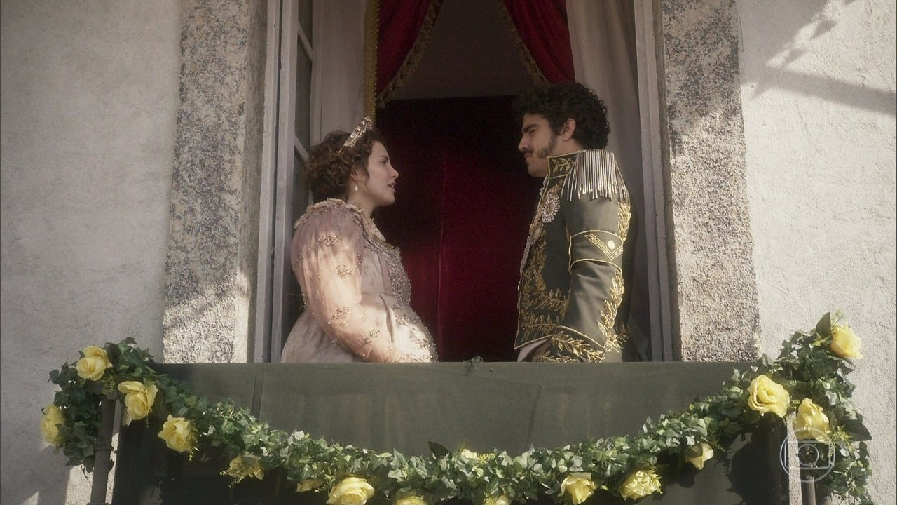 Dom Pedro e Leopoldina se admiram com a nova pátria