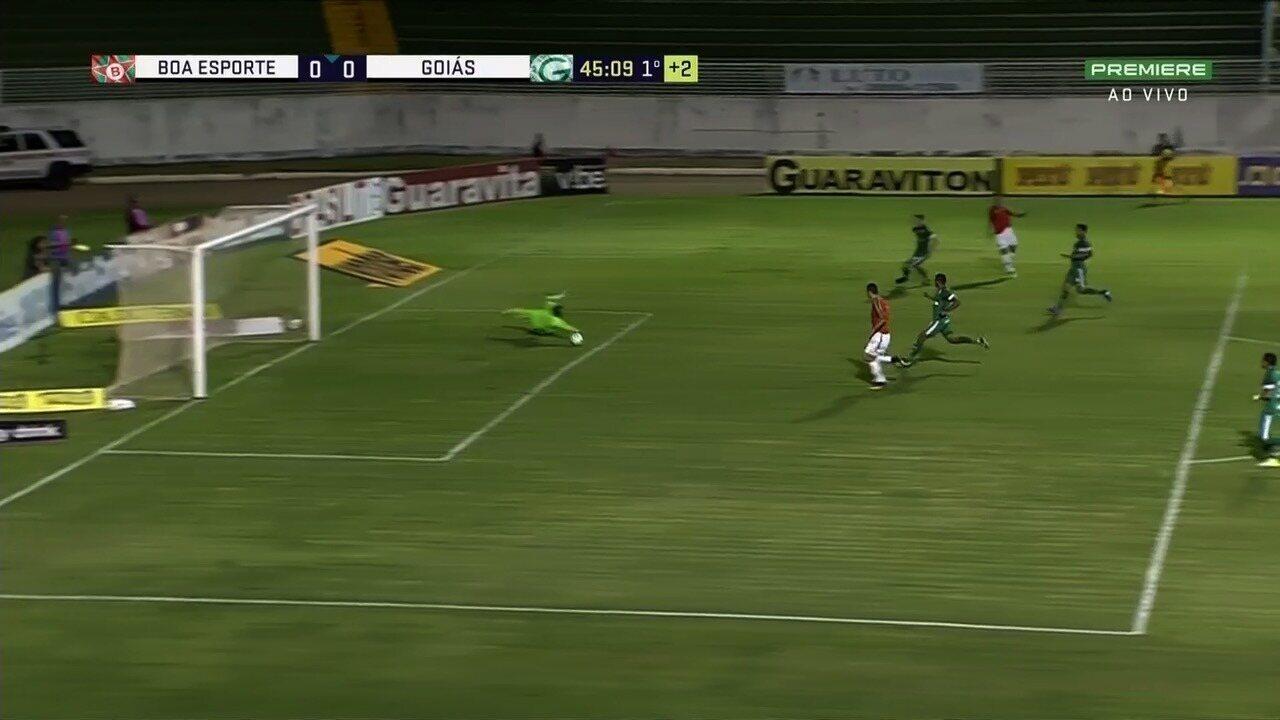 Veja os melhores momentos do jogo entre Boa Esporte e Goiás