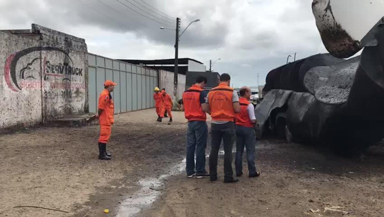 Homem morreu após explosão de caminhão-tanque em Maceió