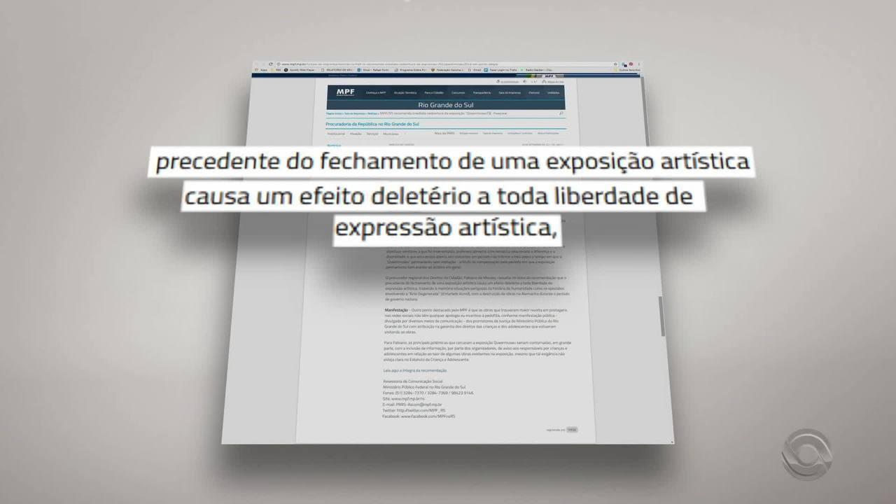 MPF recomenda que Santander Cultural reabra a exposição 'Queer Museu'
