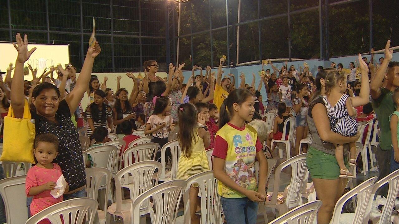 Mais um edição do Pipoca em Cena anima moradores de Manaus
